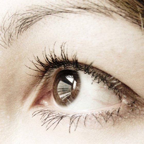 Never use anything but warm water or contact lens saline solution to flush eyes.