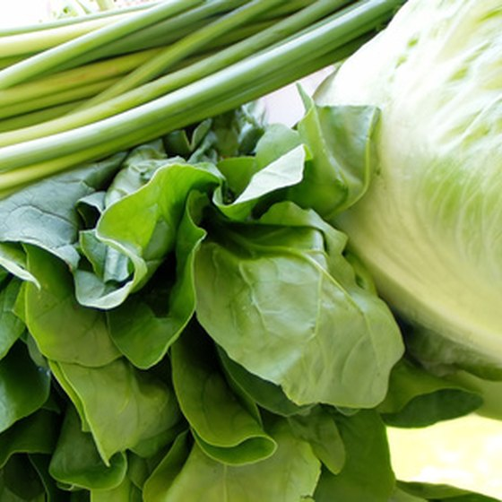 Green vegetables are alkaline forming.