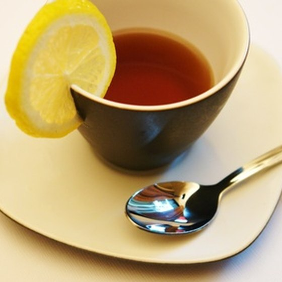 Tea with lemon will relieve a scratchy throat.
