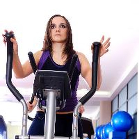 Elliptical exercise machines can feature moveable arms.