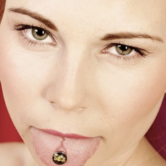 Tongue piercings are often performed with a 5/8-inch, 12 or 14 gauge barbell.