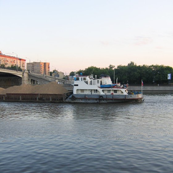 The Mississippi River provides a scenic place for a barge cruise.