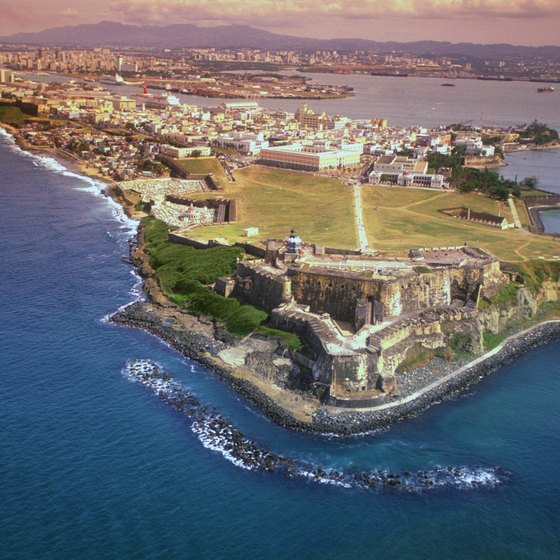San Juan's El Morro Fort is easily reached by metro bus and free trolley.