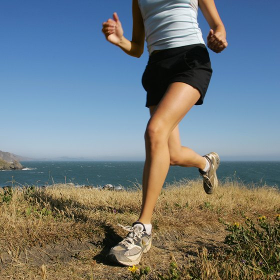 Jogging uphill tones your glutes and thighs.