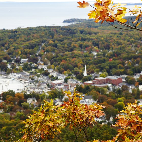 Begin a New England drive in Camden, Maine at the start of fall foliage season.