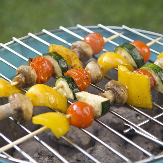 An indoor grill can be found in a residence, as well as a business.