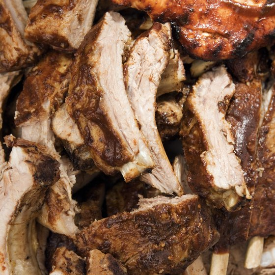 Ribs are only one product a barbecue catering company offers.