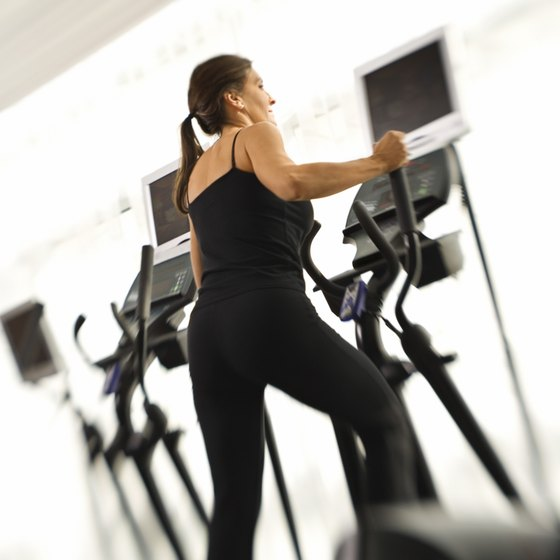 A longer elliptical stride length places greater emphasis on the hamstrings and groin muscles.