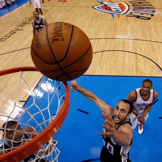 Manu Ginobili frequently employs the Euro step to get to the net.