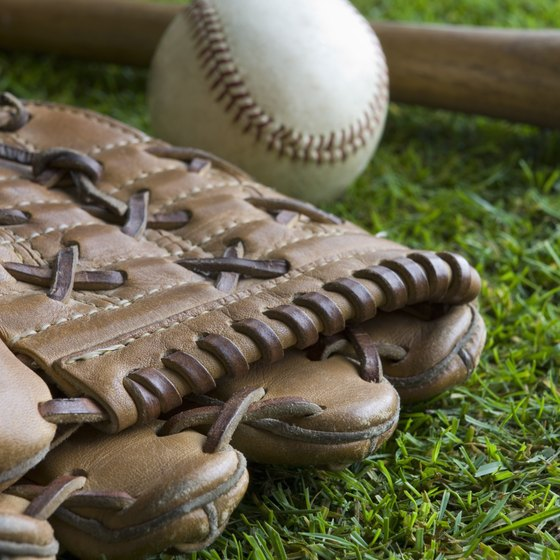 A rain-soaked baseball glove can still serve for many years if repaired properly.