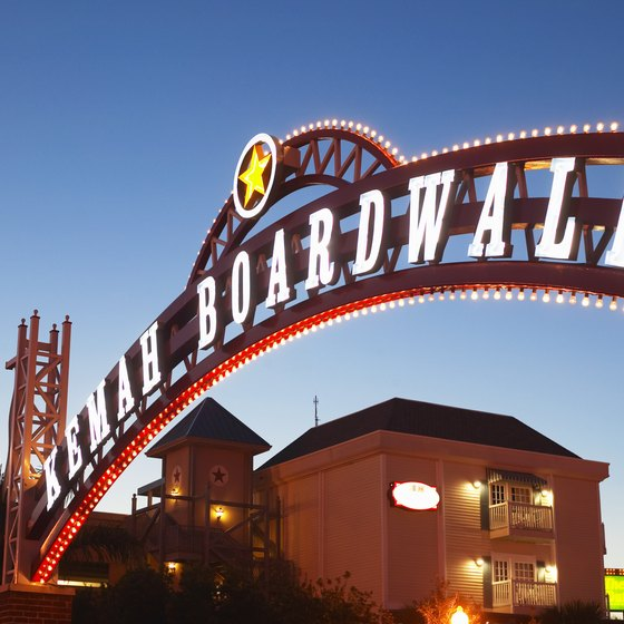 The Kemah Boardwalk is a Galveston landmark.