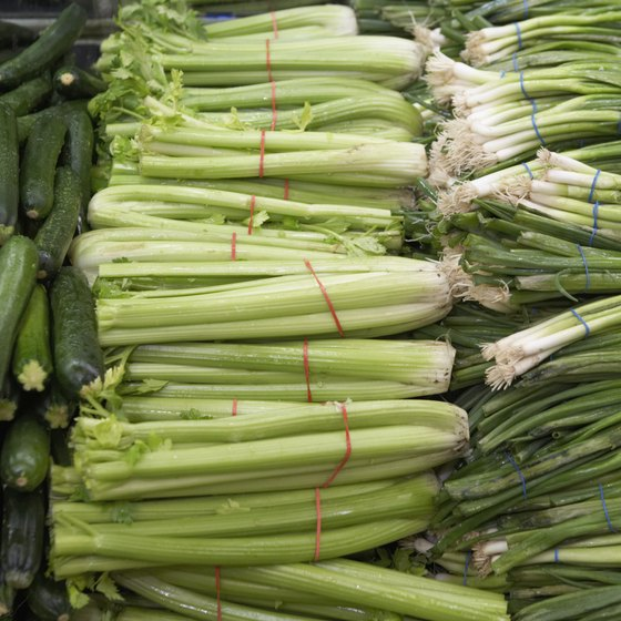Celery is a good source of vitamins A and K.