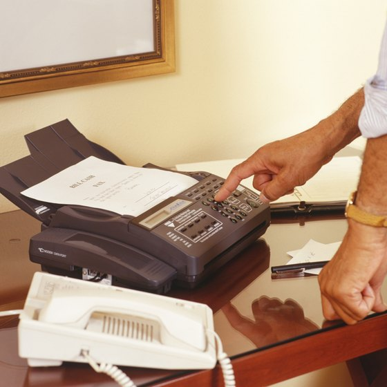The fax in your home office can share a line with your voice mail.