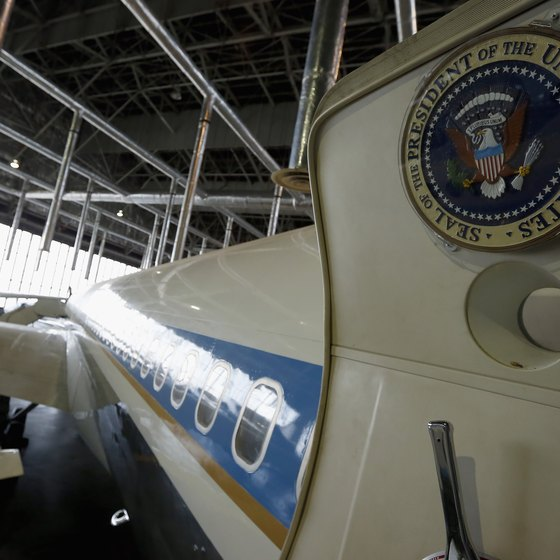 JFK's Air Force One is on display at the National Musueum of the U.S. Air Force.