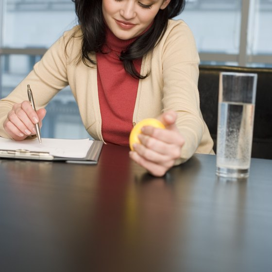 Squeeze a stress ball at work to strengthen your wrists while you are busy with other things.