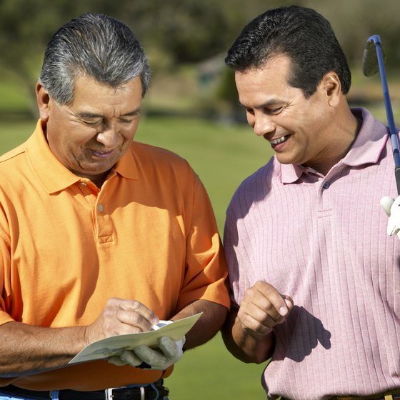 Write down your score after each hole to track your progress.