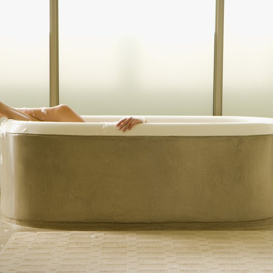 A hot bath after your workout calms your leg muscles.