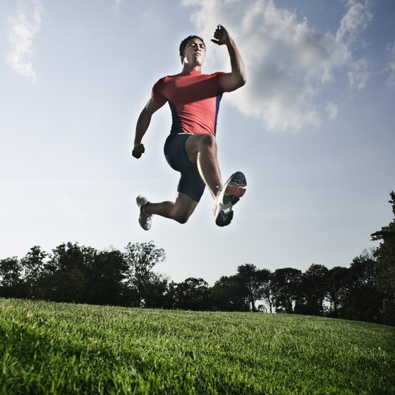 Many plyometric exercises include jumping and running.