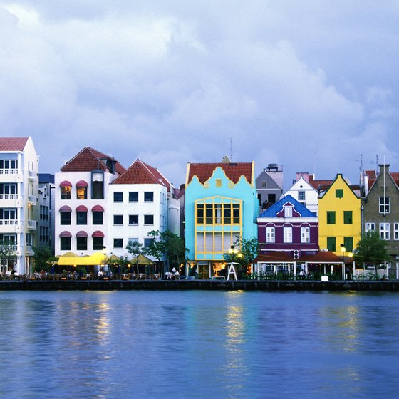 The waterfront of Willemstad, the capital of Curacao