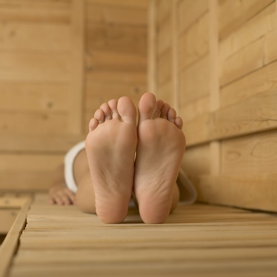 Relaxing in a sauna has different effects than cardio exercise.