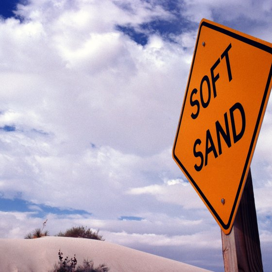 White Sands is the largest gypsum desert in the world.