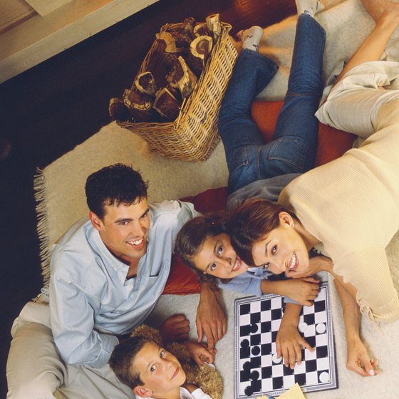Games encourage interaction between family members.