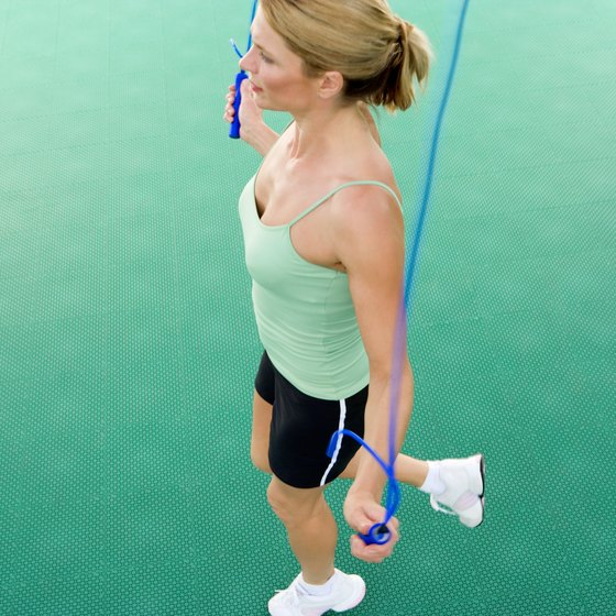 Jumping rope is one of many effective calisthenics exercises.