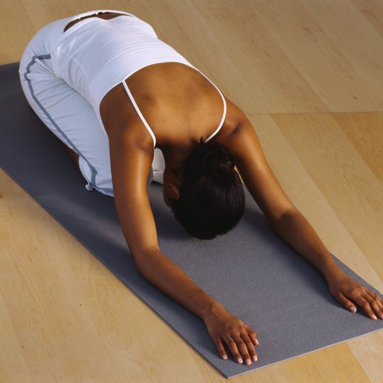 Child's pose gives the back a restorative, gentle stretch.
