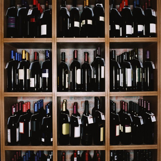 Liquor stores offer a broad range of wines as well as liquor.