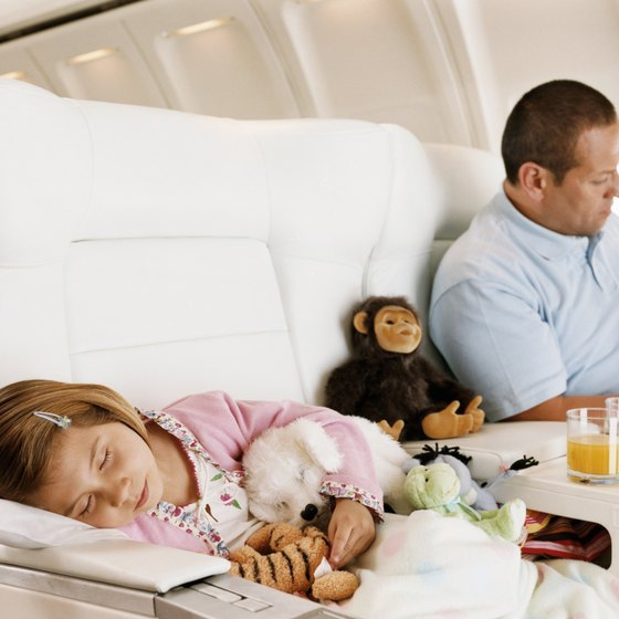 Red-eye flights give your toddler time to sleep.