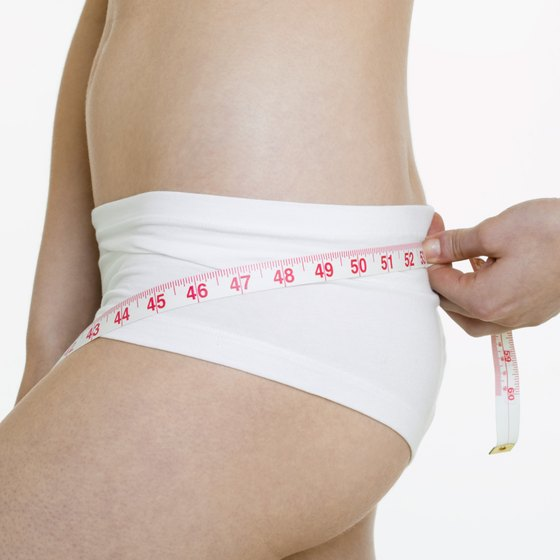 Measure your hips to keep track of your progress.