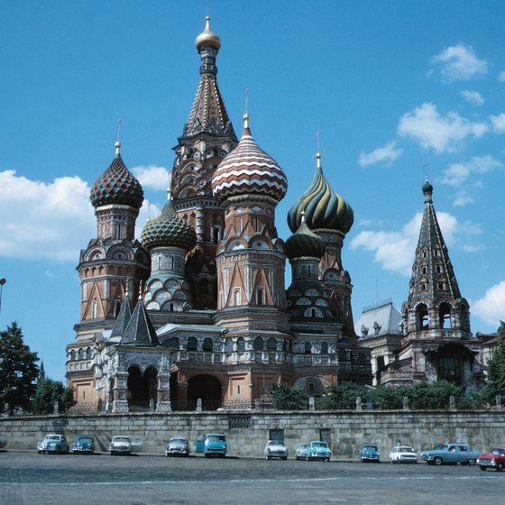 St. Basil's Cathedral in Moscow is one of Russia's most recognizable landmarks.