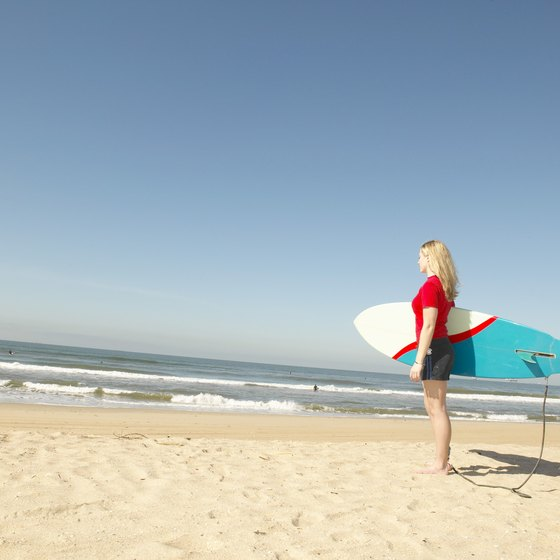 Orange County is home to some of SoCal's famous surfing beaches.