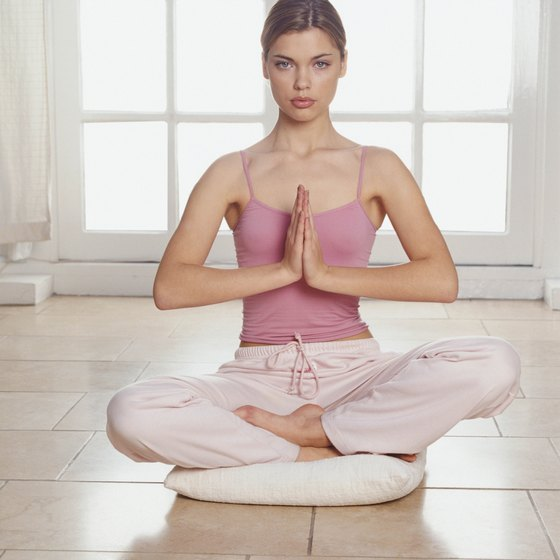 Using a bolster helps you relax and connect with your breath and body in a pose.