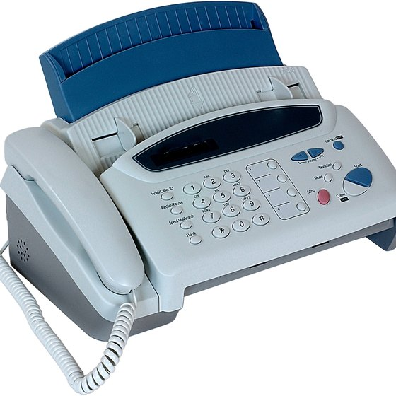 Fax machines can connect through a cable Internet connection.
