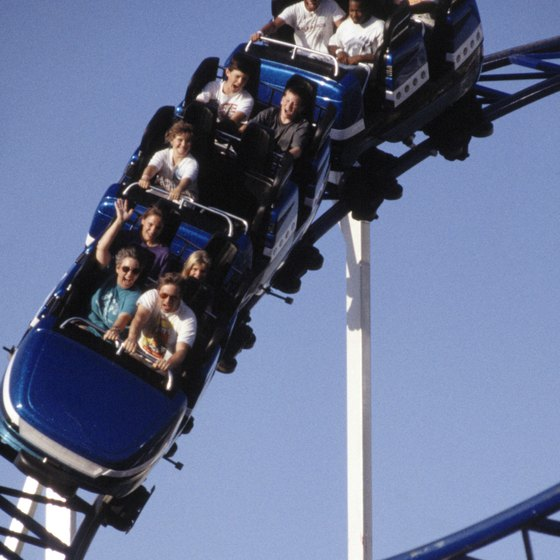 Enjoy 12 roller coasters at Six Flags.