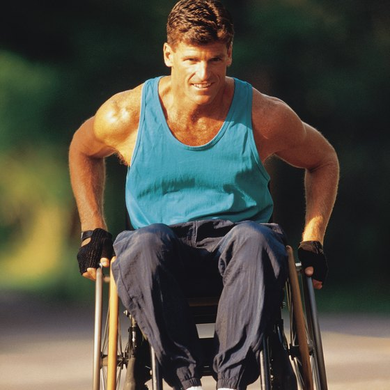 Wheelchair athletes do intense upper-body workouts.