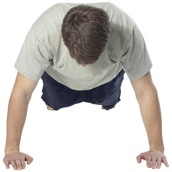 Bent-knee pushups offer beginners a modification.