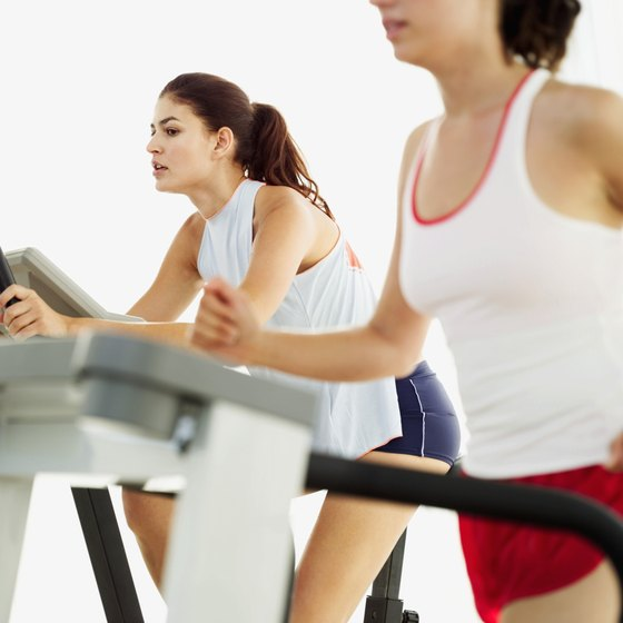 Treadmills and stationary bikes each provide opportunities for indoor aerobic activity.