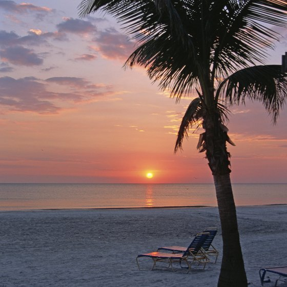 The Gulf Coast of Florida has many white sand beaches.