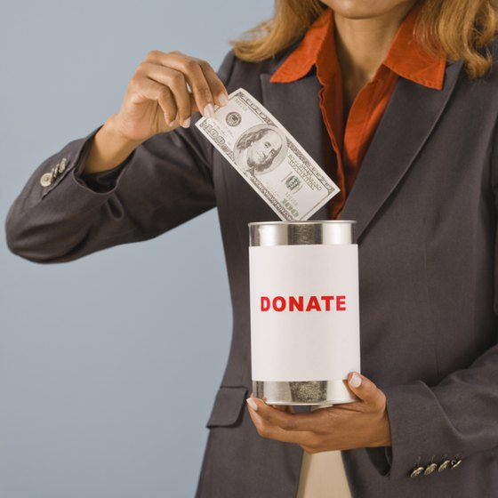 Donations are a major source of funds for nonprofits.