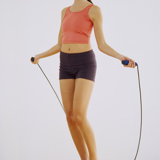 Jumping rope is a great cardiovascular workout.