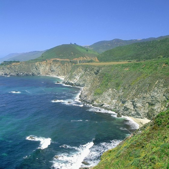 Big Sur view from Highway 1, California's Central Coast.