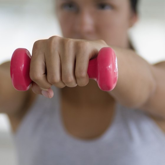 Use toning exercises with light weights as a warmup.