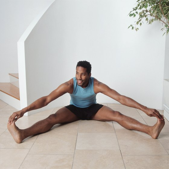 Opening your legs wider requires increased flexibility in your inner thighs.