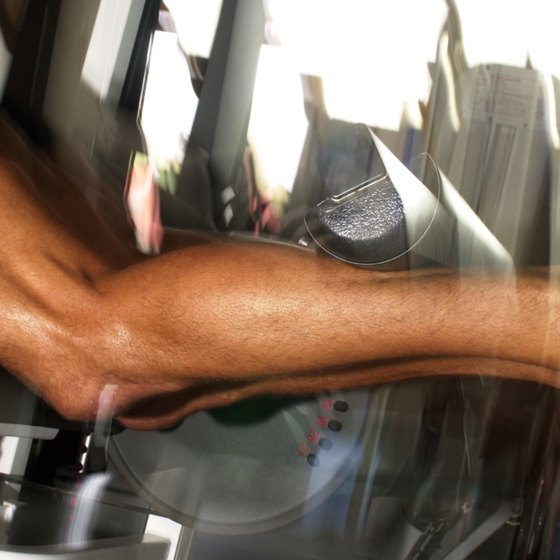 The soleus muscle is hidden under the bigger gastrocnemius muscle.