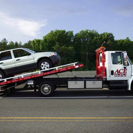 Towing companies typically have lien rights, even for company-owned vehicles.