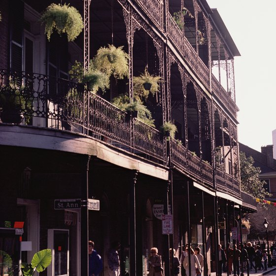 The French Quarter is New Orleans' most visited neighborhood.