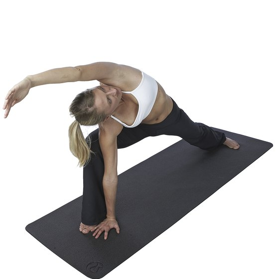Make sure your yoga mat covers your stretch.