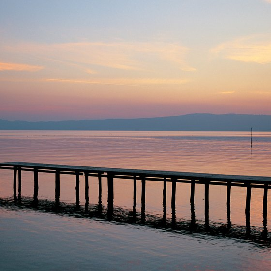 Lago di Bolsena is located in the foothills of Tuscany.